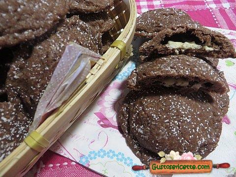 Dolcetti al cocco con cuore di cioccolato
