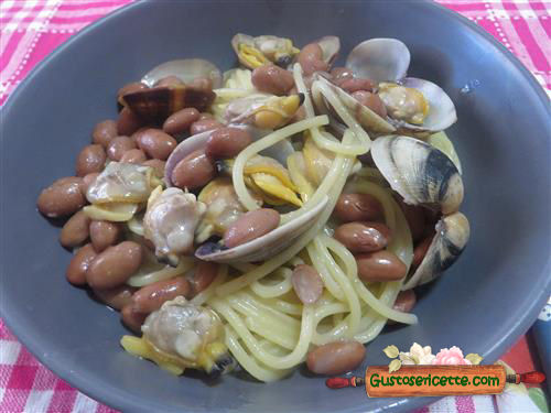 Spaghetti vongole e fagioli