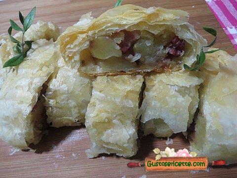 Strudel salato pasta sfoglia e patate