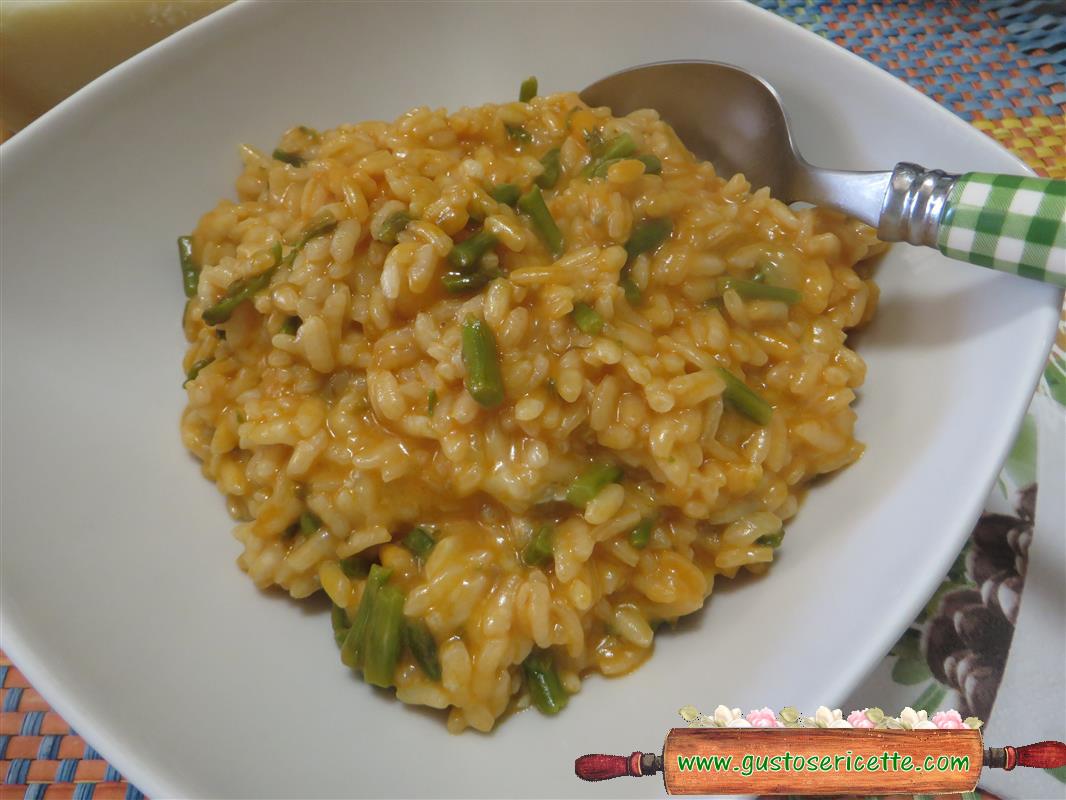 Risotto asparagi gorgonzola