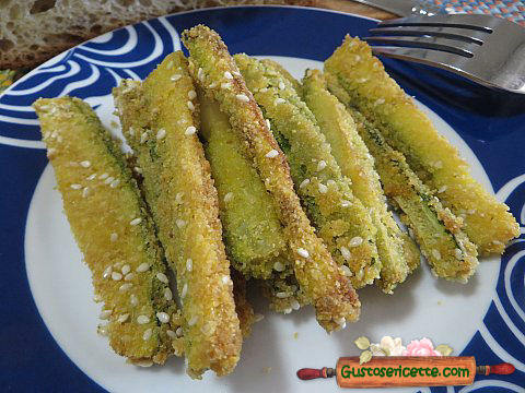 Zucchine croccanti sesamo farina di mais