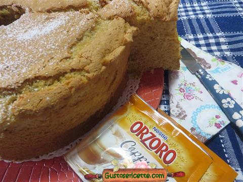 chiffon cake al cappuccino d orzo