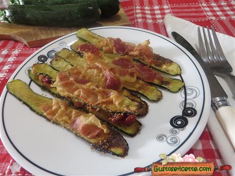 Zucchine croccanti alla pancetta