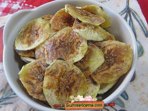chips di platano al micrronde