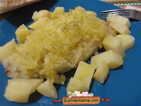 rana pescatrice gratinata alle patate