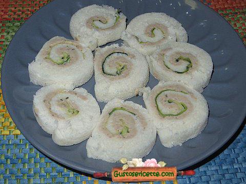 Girelle pancarre pate coniglio zucchine marinate