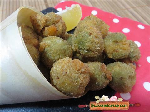 Olive fritte farcite con gamberetti