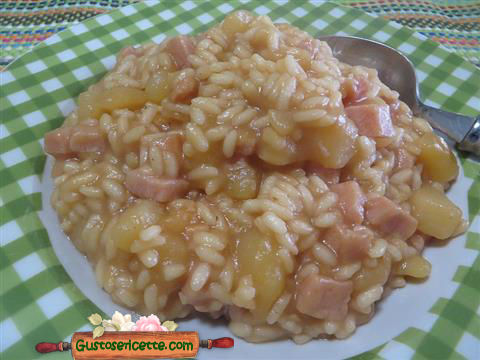risotto patate e rape rosse