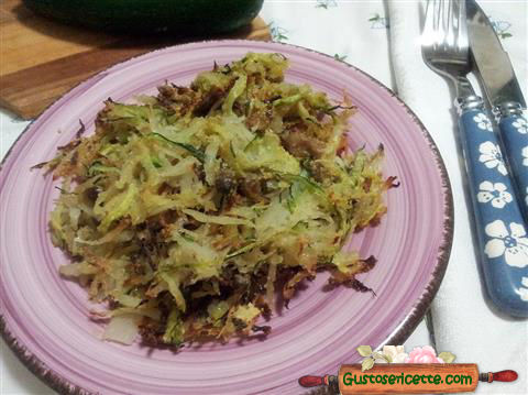 Scorzonera e zucchine gratinati in forno