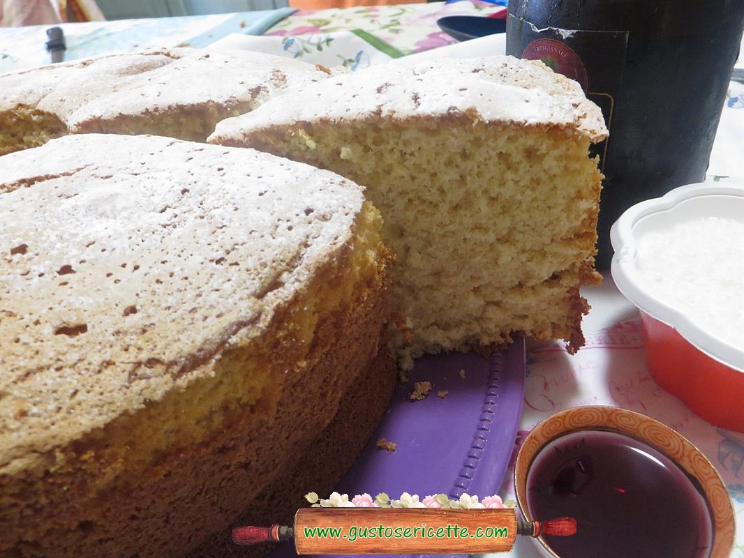 Chiffon cake cocco e cherry