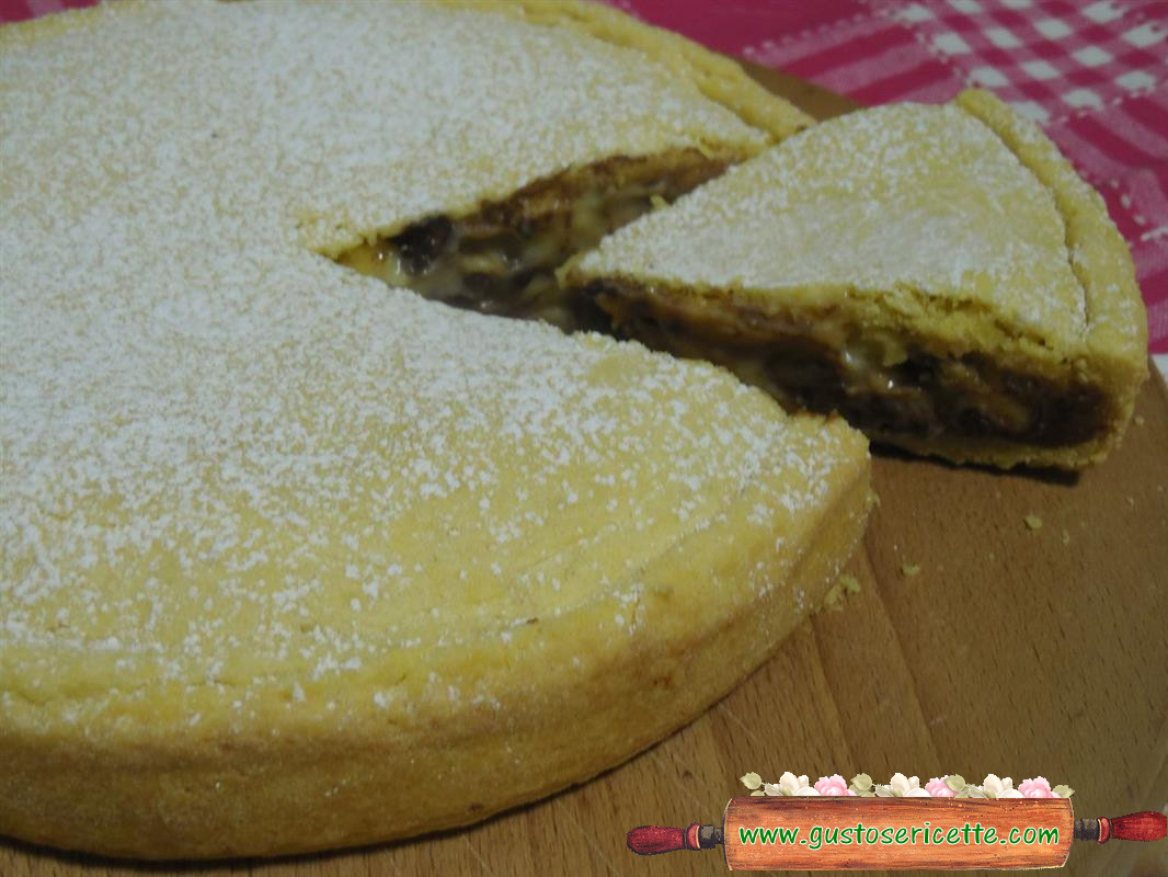 Torta pasta frolla arancia e crema